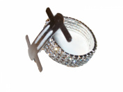 Silver Rhinestone Stretch Band Corsage Wristlet Formal Prom Favours