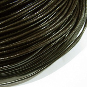 1.5mm Genuine Leather Cord Dark Coffee Colour 40m String 4004 Knotting Stringing