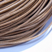 1.5mm Genuine Leather Cord Natural Colour 40m String 4001 - Knotting Stringing