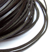 2x3mm Genuine Leather Cord Black Natural 5m String - for Necklace Bracelet