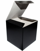 "Bundleofbeauty Black Wedding Favour Candy Gift Boxes 4x 4"" x 5.1cm - 10 Boxes"