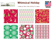 Premium Christmas Gift Wrap Traditional Wrapping Paper Bulk for Men, Women, Boys, Girls, Kids 6 Different 4.9m X 80cm Rolls Included Xmas Trees, Snowflake, Snowman