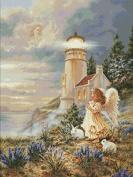 Praying By the Tower Cross Stitch Kit,14ct 449*601stitch 90*117cm Count Cross Stitch Kits