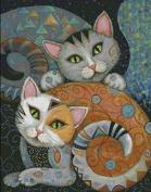 Two Cats Cross Stitch Kit,14ct 400*512stitch 82*102cm Count Cross Stitch Kits