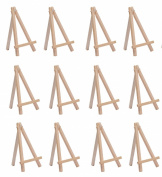 SL crafts 8.9cm By 16cm Mini Wooden Easels Display