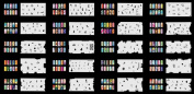 Reuseable Airbrush Nail Art Stencil 300 DESIGNS - 20 Template Sheets Kit Set 9