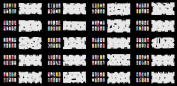 Reuseable Airbrush Nail Art Stencil 280 DESIGNS - 20 Template Sheets Kit Set 6