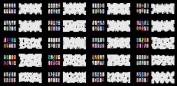 Reuseable Airbrush Nail Art Stencil 260 DESIGNS - 20 Template Sheets Kit Set 5