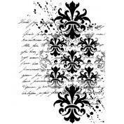 Crafty Individuals Unmounted Rubber Stamp, 12cm x 18cm , Baroque Splatter Script