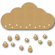 Eyeconnect Chipboard Lace, Up, Large Rain Cloud, 14cm by 7.4cm