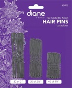 Diane Hair Pins Assorted Size, Black, 100/card