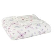 aden + anais Silky Soft Dream Blanket, Flower Child Collection, Pinwheel Floral Kaleidoscope Dot