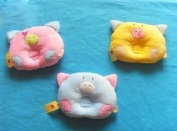Cute Pig Style Soft Pillow Prevent Flat Head for Baby Infant-Colour Blue