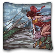 Custom Cotton & Polyester Soft Anime Pillowcase Standard Size 41cm x 41cm Design Pillow Case Cover suitable for X-Long Twin-bed