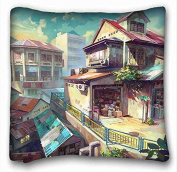 Custom Characteristic Anime Pillowcase Cover 41cm x 41cm One Side suitable for Full-bed