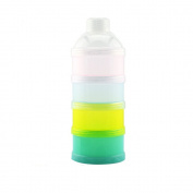 HAPPYMALL 4 Layers Non-Spill Baby Milk Powder Dispenser Storage Container Dispenser Multi-Colour