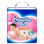 MamyPoko Pants Nappies Extra Soft Girls Size M 17 Pcs.