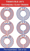 Toronto Blue Jay's Themed Plastic Closet Dividers - Infant Closet Dividers