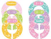 Mumsy Goose Nursery Closet Sizers Baby Girl Pastels
