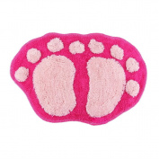 Bath pad door floor mat bathroom mini rug water-absorbing big feet mat 60X40CM S pink