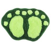 Bath pad door floor mat bathroom mini rug water-absorbing big feet mat 60X40CM S green