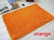 40x60cm Bathroom Door Floor Mat Rug Soft Shaggy Bath Carpet Chenille Mat F1R orange