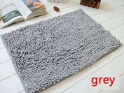 40x60cm Bathroom Door Floor Mat Rug Soft Shaggy Bath Carpet Chenille Mat F1R grey