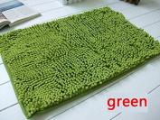 40x60cm Bathroom Door Floor Mat Rug Soft Shaggy Bath Carpet Chenille Mat FR green