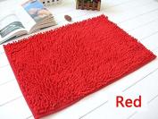 40x60cm Bathroom Door Floor Mat Rug Soft Shaggy Bath Carpet Chenille Mat F1R red