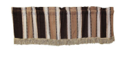 Luxurious Chenille Abstract Vintage Collection Window Valance - 150cm X 38cm in Brown
