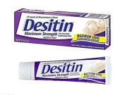 Desitin Nappy Rash Maximum Strength Original Paste 120ml tube