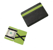 Aidee Money Clip Magic Leather Wallet Holder Billfold Credit ID Card Case