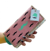 Easting Women's Sweet Moustache Printing Polka Dot Lining Wallet