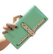 Easting Women's Hand-carrying Buckle Pull Clasp Long Wallet Candy Colour