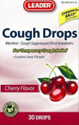 Leader Cough Drops Cherry 30 Lozenges Per Pack