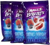 Halls Breezers Cool Berry Drops-25 ct, 3 pk
