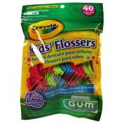 Butler Gum Crayola Dental Flossers For Kids - 40 Ea by SUNSTAR BUTLER.