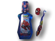 Spiderman Oral Hygeine Set with Mouthwash and Travel Capped Toothbrush