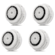 Healtek Compatible Replacement Brush Heads (2 pack), designed for Sensitive Skin, fits Mia, Mia 2, Mia 3 (Aria), Smartprofile Plus and Radiance Cleansing Systems