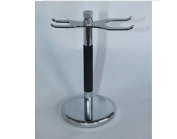 Shave Classic Black and Chrome Razor and Brush Stand Sst-26