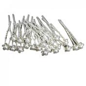 Susenstone® 20Pcs Wedding Bridal Pearl Flower Crystal Hair Pins Clips