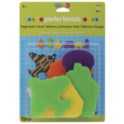 New - Perler Fun Fusion Bead Pegboards 6/Pkg-Travel by WMU
