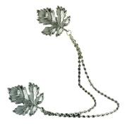 Voberry® New Jewellery Retro Cute Beautiful Tassel Chain Leaves Cute Pin Brooch Cardigan Sweater or Shawl Clip