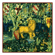 Counted Cross Stitch Chart Heraldry Lion by Arts and Crafts Movement Founder William Morris