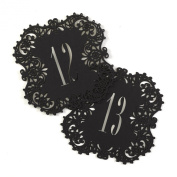 Hortense B. Hewitt 30842 Laser Cut Table Number Cards, Numbers 11 to 20, Black