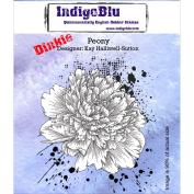 IndigoBlu Cling Mounted Stamp, Peony Dinkie
