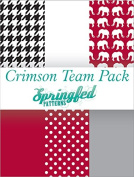 CRIMSON & WHITE THEME PACK of Craft Vinyl Team Inspired Pattern Craft Vinyl Pack
