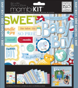 mambiKIT 20cm by 20cm Scrapbook Page Kit, Baby Boy