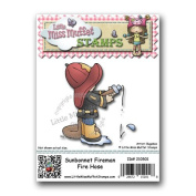 "Little Miss Muffet Stamps - Cling Rubber Stamp ""Sunbonnet Fireman Fire Hose"""