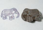 Blockwallah Indian Elephant Wooden Block Stamp